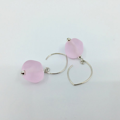 Pink Pebble Earrings