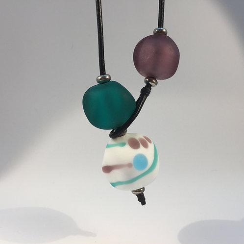 Purple/Teal Shoreline Necklace