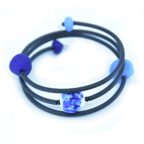 Blue Speckled Beachy Bracelet