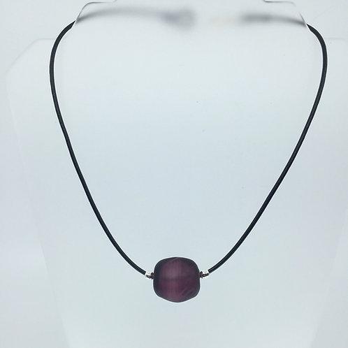 Deep Purple Ice Cube Necklace