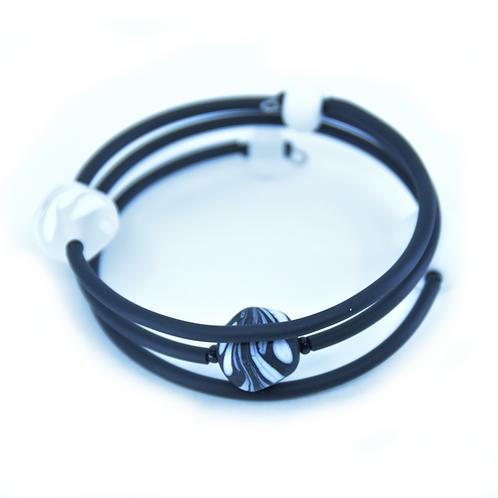 Black and White Beachy Bracelet