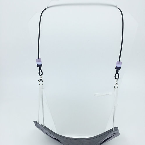 Mask Keeper lilac barrel beads