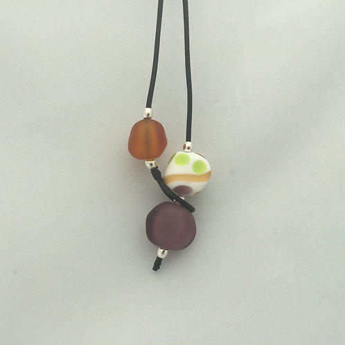 Purple/Amber Shoreline Necklace
