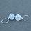 Thumbnail: White Swirl Pebble Earrings
