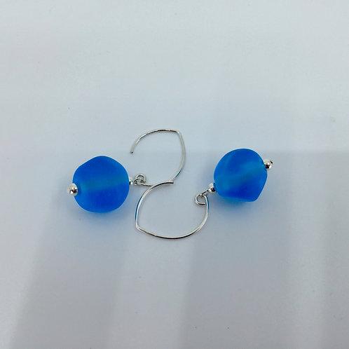 Sky Blue Pebble Earrings