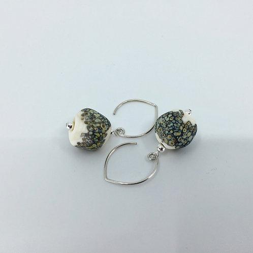 Ivory Sandy Pebble Earrings