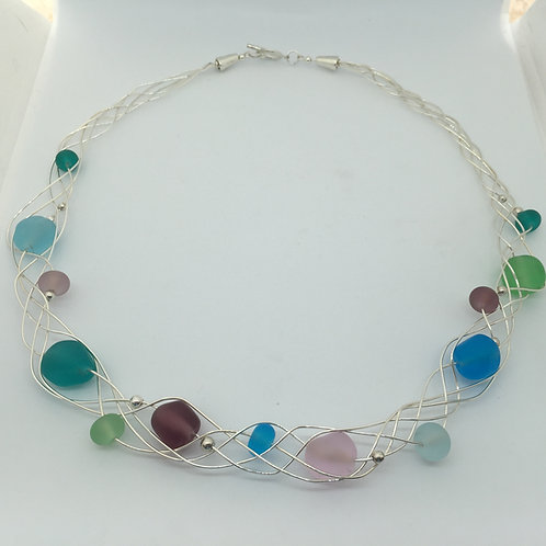 Silver Net Necklace
