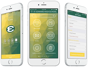 beautiful intuitive smartphone app to organize all school-related platforms into a single location