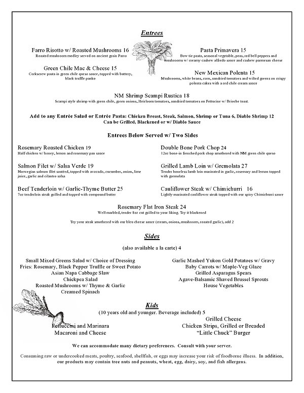 Rosemary New Menu March 2021  web page 2
