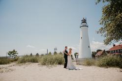 port huron lighthouse wedding michigan