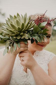 cactus wedding bouquet