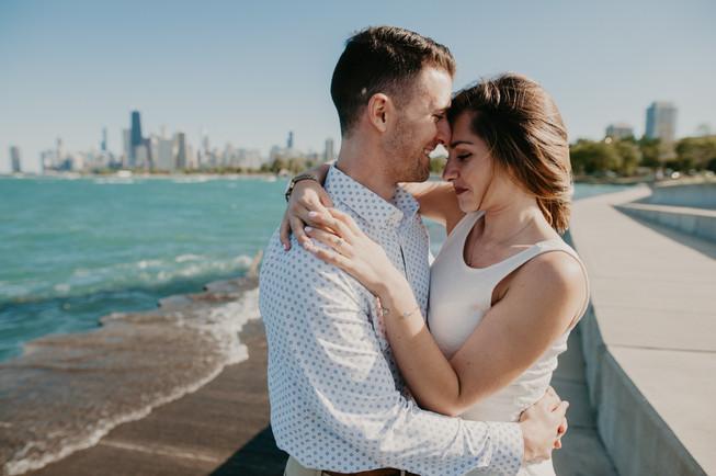 lake michigan beach elopement photographer