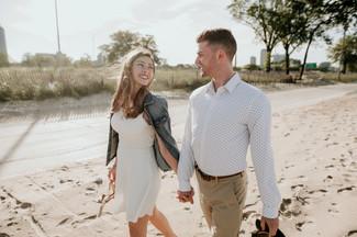 chicago lake michigan beach elopement photographer