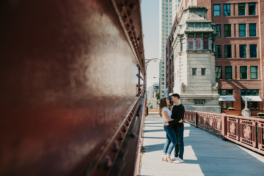 magnificent mile engagement photography chicago