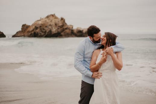 pfeiffer beach big sur engagement photos