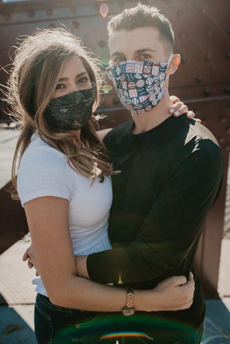 covid mask engagement photographer