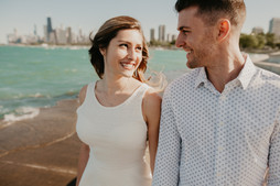 chicago beach engagement