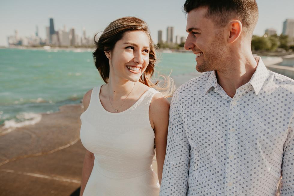 chicago beach engagement
