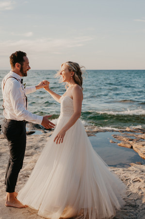 first dance pictured rocks elopement