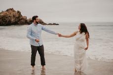 pfeiffer beach big sur engagement