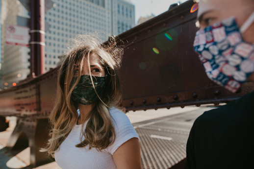 covid mask engagement photography