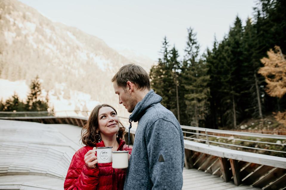 adventure elopement in the alps