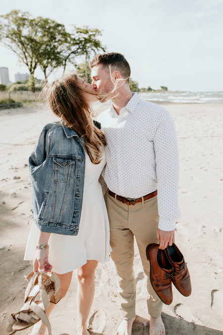 lake michigan beach elopement photography