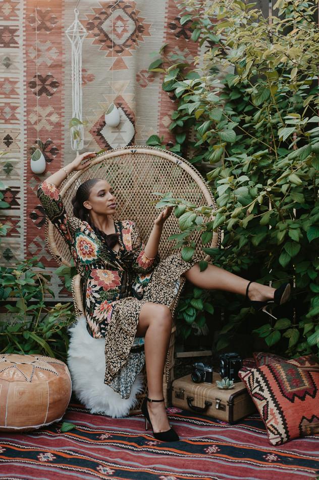 bohemian peacock chair feminine photogra