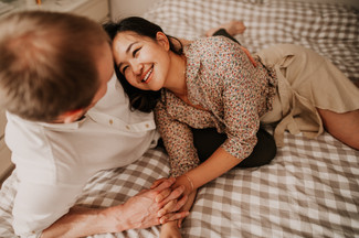 bedroom engagement photos
