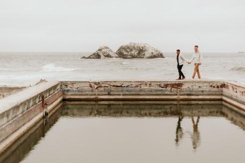 sutro baths elopement photographer