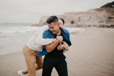 beach couples session san francisco