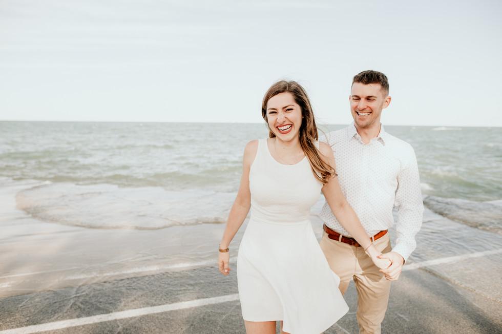 lake michigan beach elopement photography
