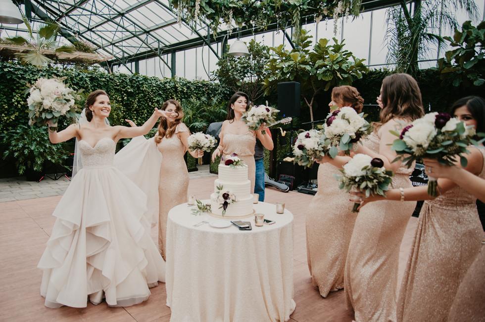 planterra conservatory bridal party wedding