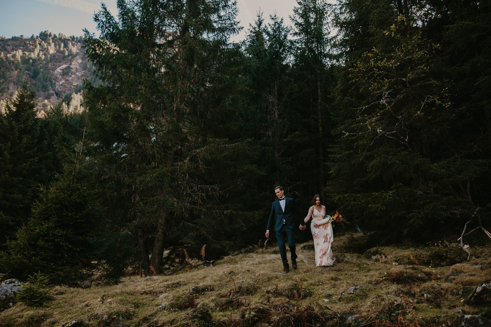adventure wedding in the alps