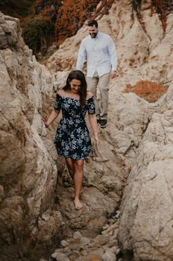 big sur adventure engagement in california