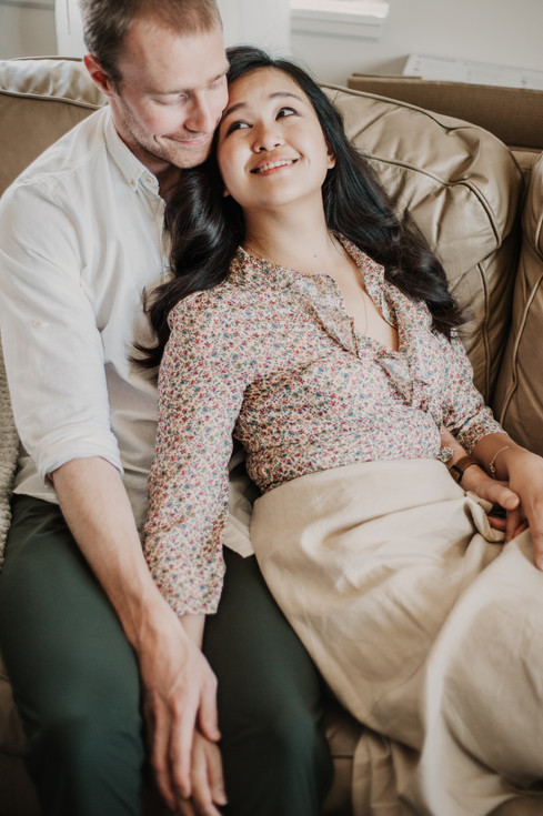 sultry engagement photography
