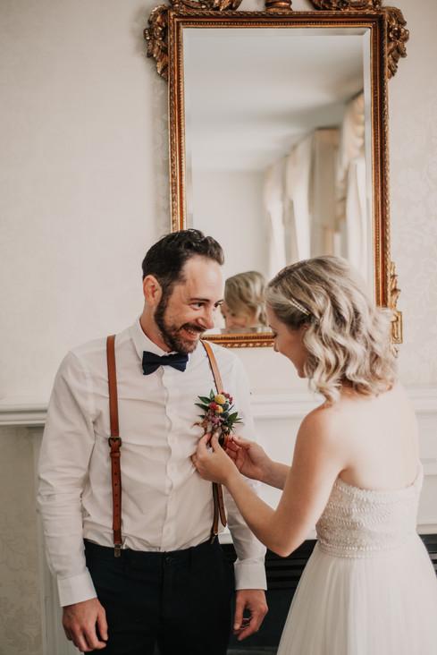landmark inn elopement boutonniere