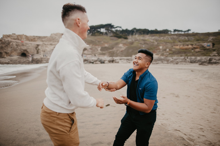 beach elopement photography san francisco