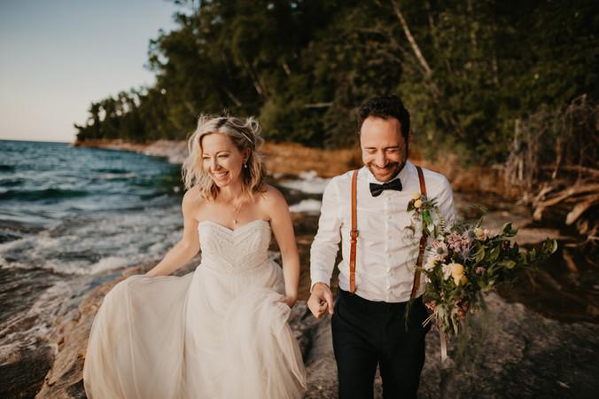 elopement vows pictured rocks elopement