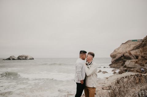 california beach engagement photography