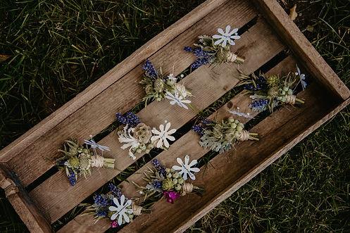 rustic floral wedding arrangement michigan
