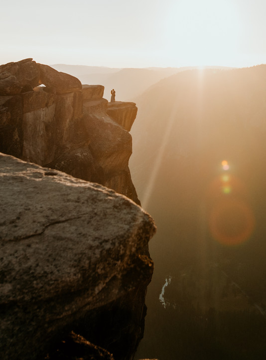 taft point yosemite wedding elopement