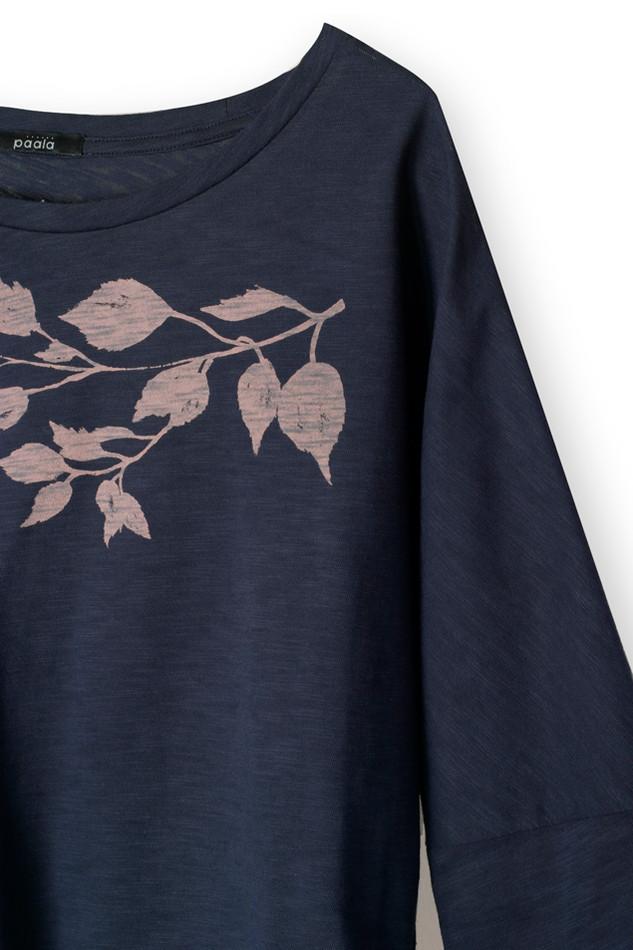 38171 - Birch Leaves Deep Navy