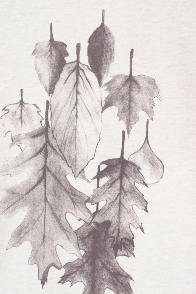 38090 - Leaf Bunch Cream Heather Grey