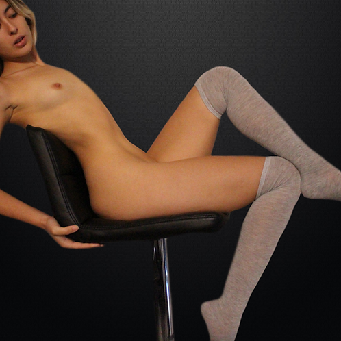 Barbies Worn Grey Socks