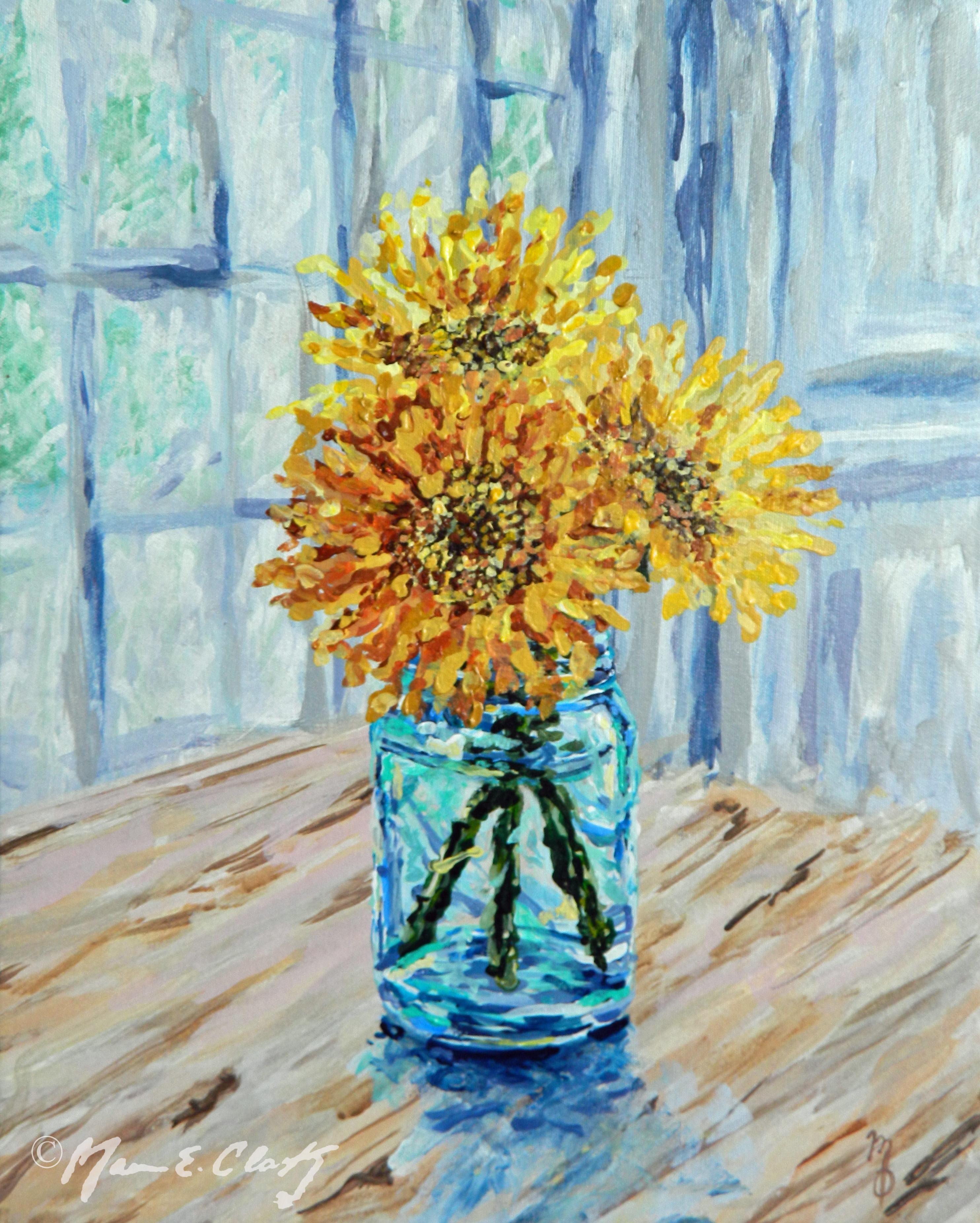 Flower & Mason Jar 8