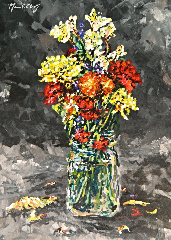 Flower & Mason Jar 9