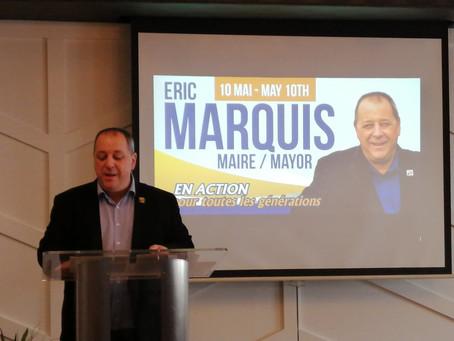 Élections municipales 2021: Éric Marquis lance sa campagne.