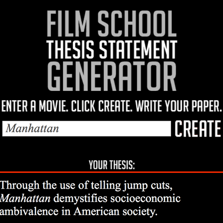 Round off your doctorate with Film Construction
