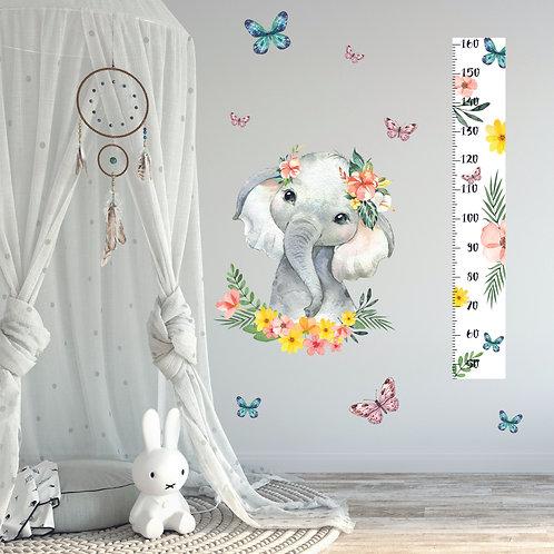 Ростомер бабочки с цветами